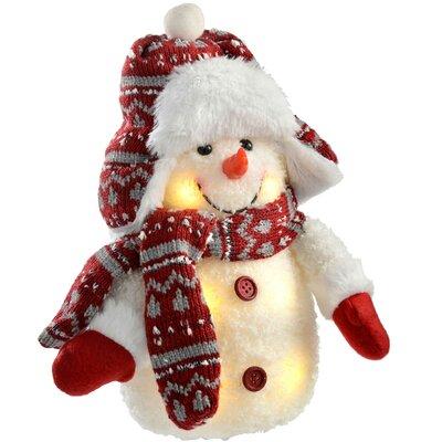 Schneemann mit LED-Beleuchtung