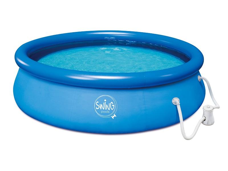 """Quick Up Pool - Set  """"Swing Pool"""", mit Filterpumpe, rund, Blau, Ø 3,66 x 0,76 m"""