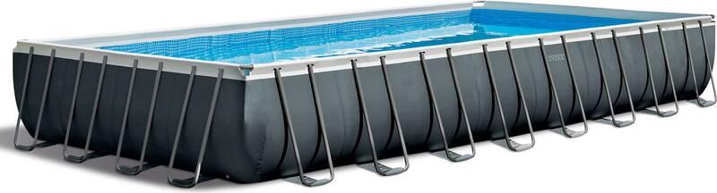 Ultra XTR Frame Pool-Set, inkl. Sandfilter RCD Pumpe, Sicherheitsleiter, Bodenplane, Abdeckplane, 975 x 488 x 132 cm
