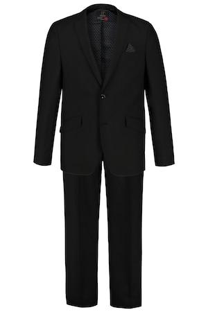 Ulla Popken 2-teiliger Traveller-Anzug, FLEXNAMIC® - Große Größen in schwarz