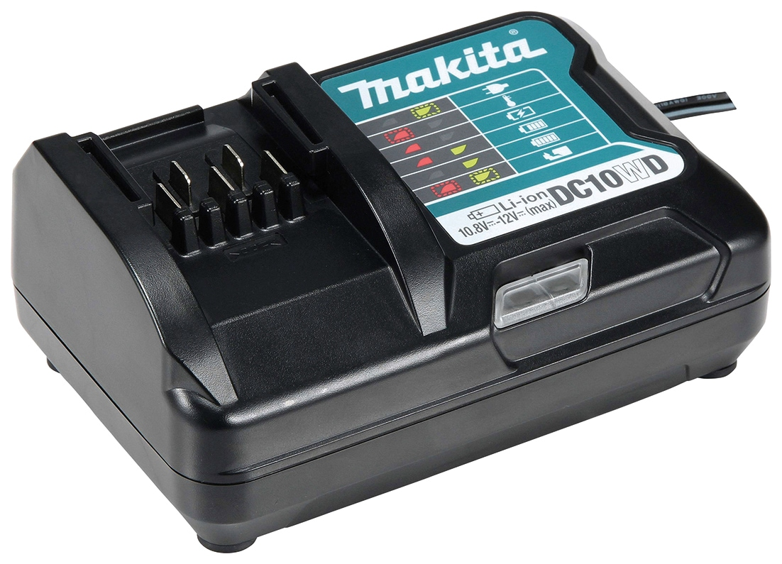 Makita Akku-Ladestation DC10WD, für 10,8 bis 12 Volt Schiebeakkus von Makita