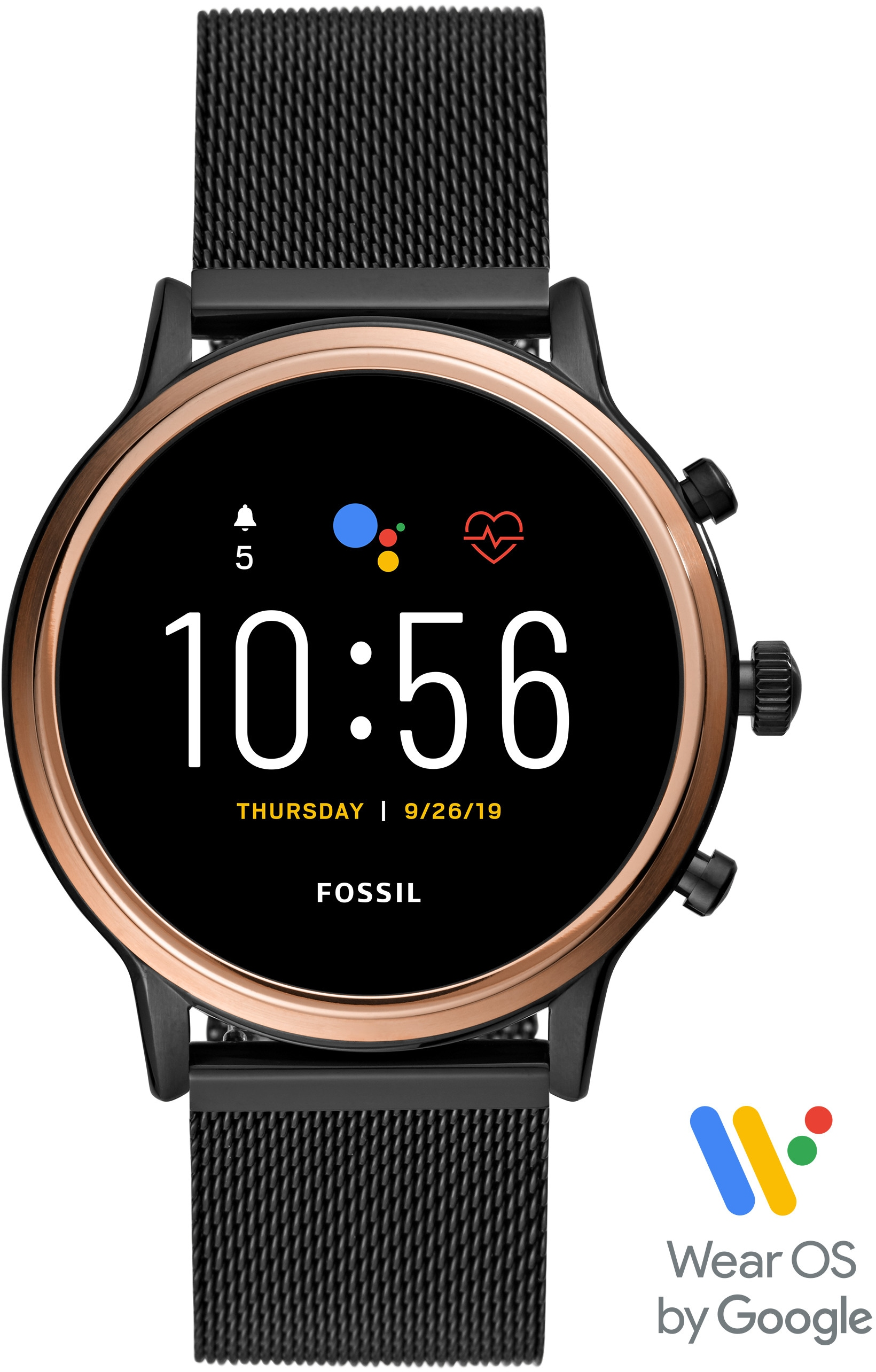 Fossil Smartwatches Smartwatch JULIANNA HR SMARTWATCH, FTW6036, (Wear OS by Google mit individuell einstellbarem Zifferblatt)