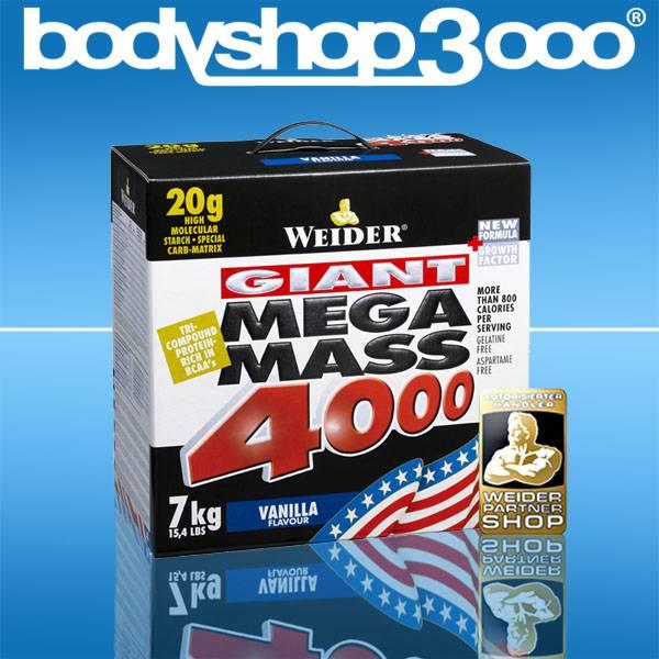 Weider Mega Mass 4000 Giant 7kg +Bonus