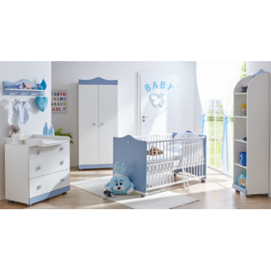 TiCAA Babyzimmer Prinz 2-türig - blau