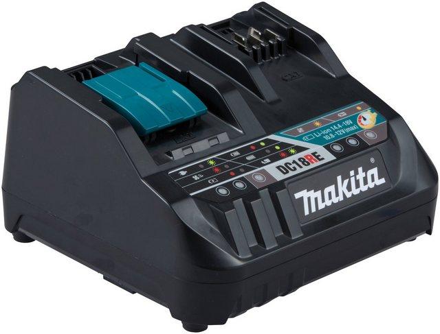 Makita »DC18RE Duo« Schnelllade-Gerät (1-tlg., Schnellladegerät für Makita CXT- und LXT-Akkus)