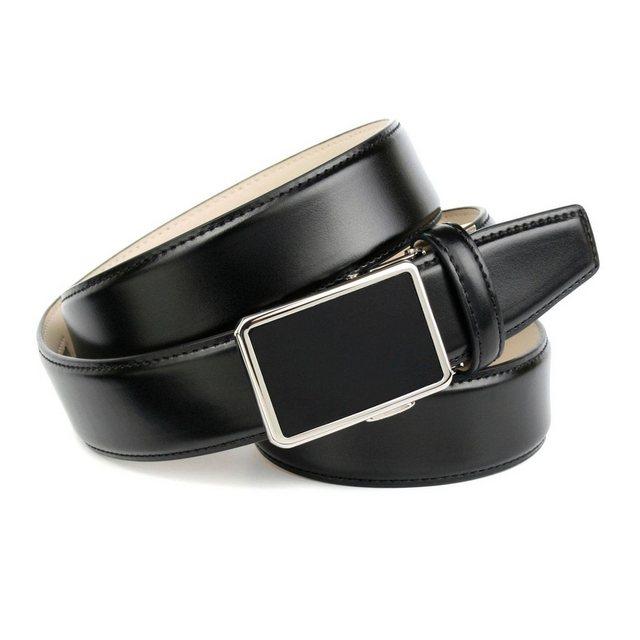 Anthoni Crown Ledergürtel für Anzüge in Schwarz