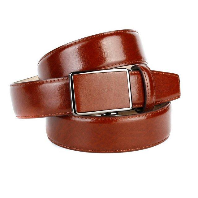 Anthoni Crown Ledergürtel Trendige Gürtel für Anzüge und Freizeit