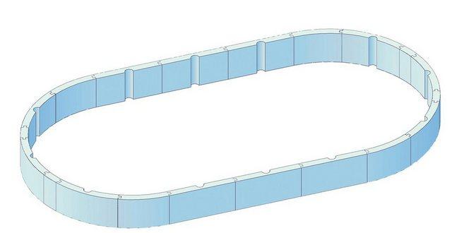 KWAD Poolwandisolierung »Pool Protector T60«, (28-St), für Ovalformbecken der Größe 610x370x135 cm