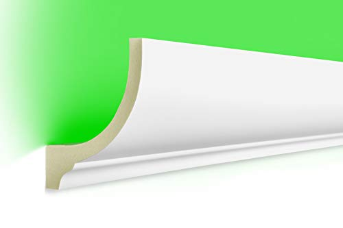 20 Meter | LED Profil | indirekte Beleuchtung | Stuck | lichtundurchlässig | stoßfest | Leiste | wetterbeständig | 80x70mm | LED-1