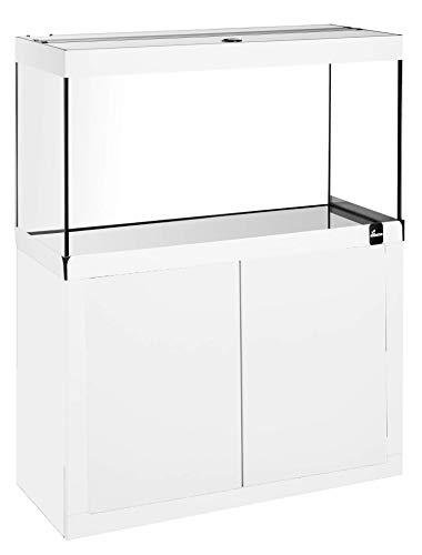 Diversa FINE Line LED 80 x 35 Weiß Aquarium Komplett mit Möbelstück und LED-Licht 17W