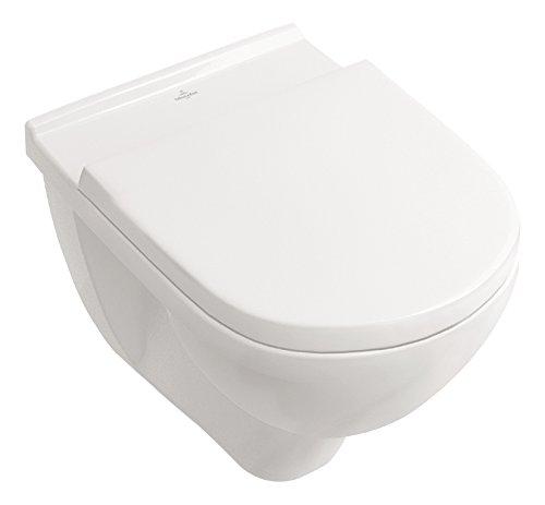Villeroy & Boch Wand-WC O.Novo mit Sitz, Directflush und ohne Spülrand, 1 Stück, 5660HR01