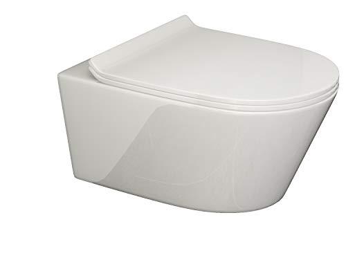 SSWW BETA Design Hänge WC Toilette mit Sitz Softclose geschlossener Unterspülrand Lotuseffekt modernes Design 540x360mm
