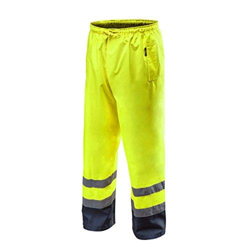 Warnschutz Regenhose EN ISO 20471 Warnschutzhose mit Reflektionsstreifen Warnhose orange neon gelb Arbeitshose Sicherheitshose M neongelb