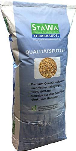 StaWa VitalMix Hühnerfutter Geflügelkörnerfutter Körnerfutter 25kg !!!GVO frei!!! mit Leinsaat & Hanfsaat + Oregano
