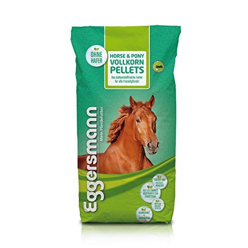 Eggersmann Horse & Pony Vollkorn Pellets 10 mm - Pferdefutter ohne Hafer - Eiweiß- und energiereduziert - 25 kg Sack