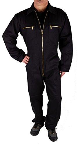 Iwea Stabiler Arbeitsoverall Arbeitskleidung Overall, Schwarz, 60