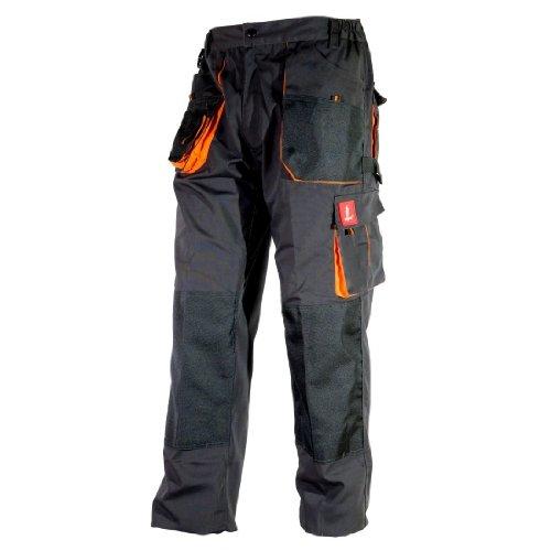 Hose Schutzhose Arbeitskleidung Arbeitshose URG-A [260g/m2], Graphit/Orange, 50 EU