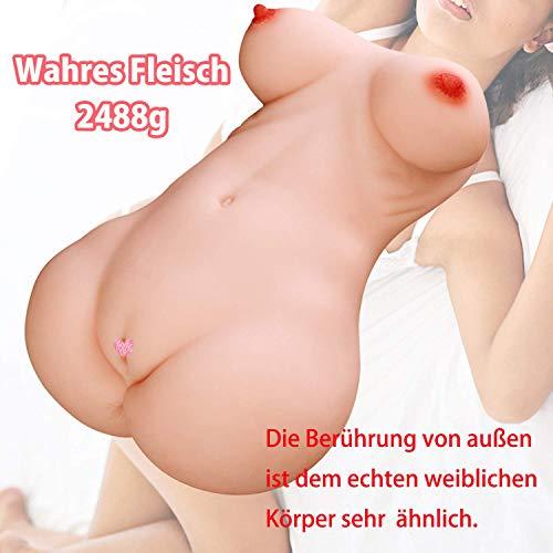 Masturbieren Pussy 3D Realistischer Muschi Vagina Masturbator Silikon Erotik Sexpuppe mit Vagina/Pussy Anus und Busen Arsch Masturbatoren Erotik Sexspielzeug für Männer (2.48kg)