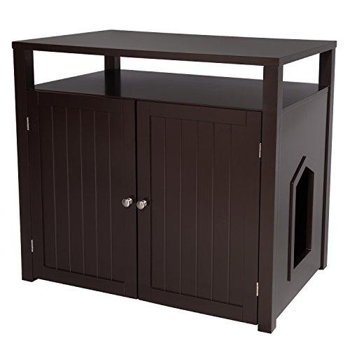Arf Pets Designer Gehäuse für Katzentoiletten, Möbelstück, großes Kastengehäuse mit Tisch