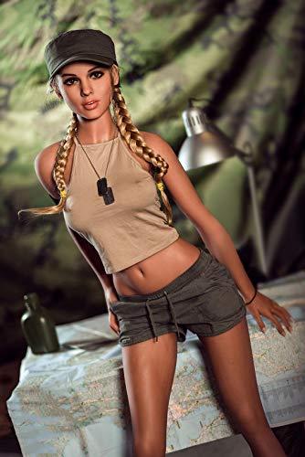 Real sex doll 166cm Sexpuppe C Cup Schöne Europäische Frauen Silikon Liebespuppen mit Dem Flexiblen Metallskelett Anal Sex Vaginal Sex Oral Sex 3D Spielzeuge (Juanny)
