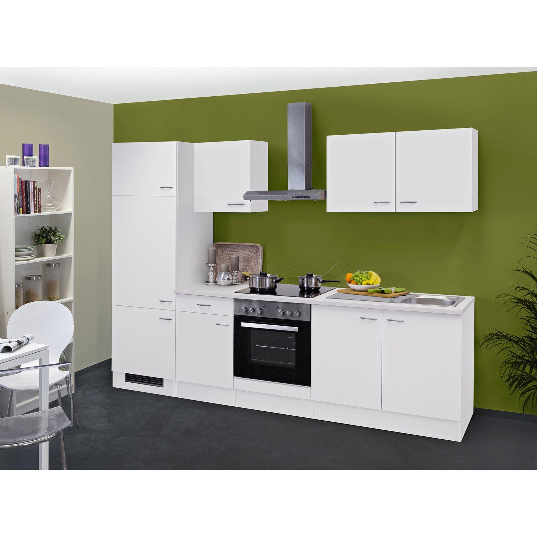 Flex-Well Classic Küchenzeile/Küchenblock Wito 270 cm Weiß