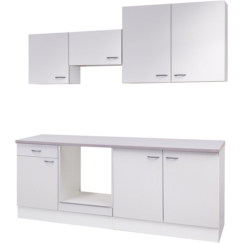 Flex-Well Küchenzeile/Küchenblock 210 cm ohne E-Geräte Wito Weiß