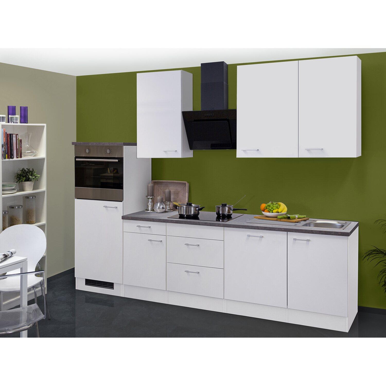 Flex-Well Classic Küchenzeile/Küchenblock Lucca 280 cm Weiß