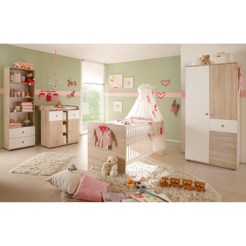 Babyzimmer Milu 4-teilig Sonoma Weiß