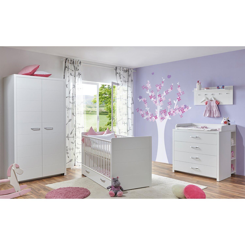 TICAA Babyzimmer Mia 5-teilig Weiß 2-türig