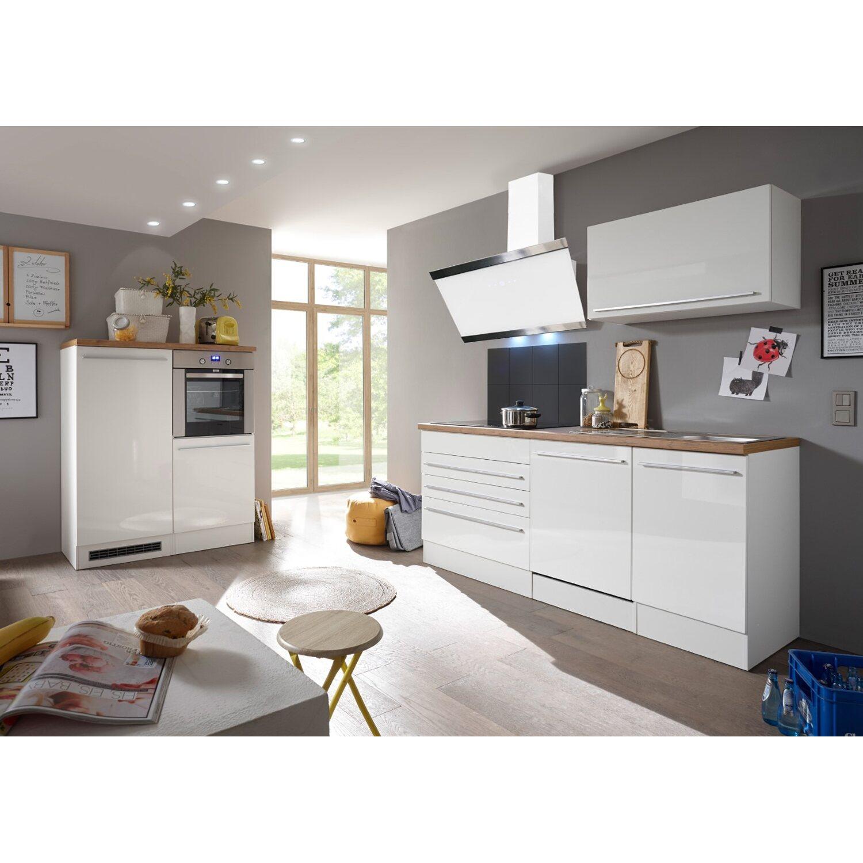 Respekta Premium Küchenzeile/Küchenblock 320 cm Weiß Hochglanz