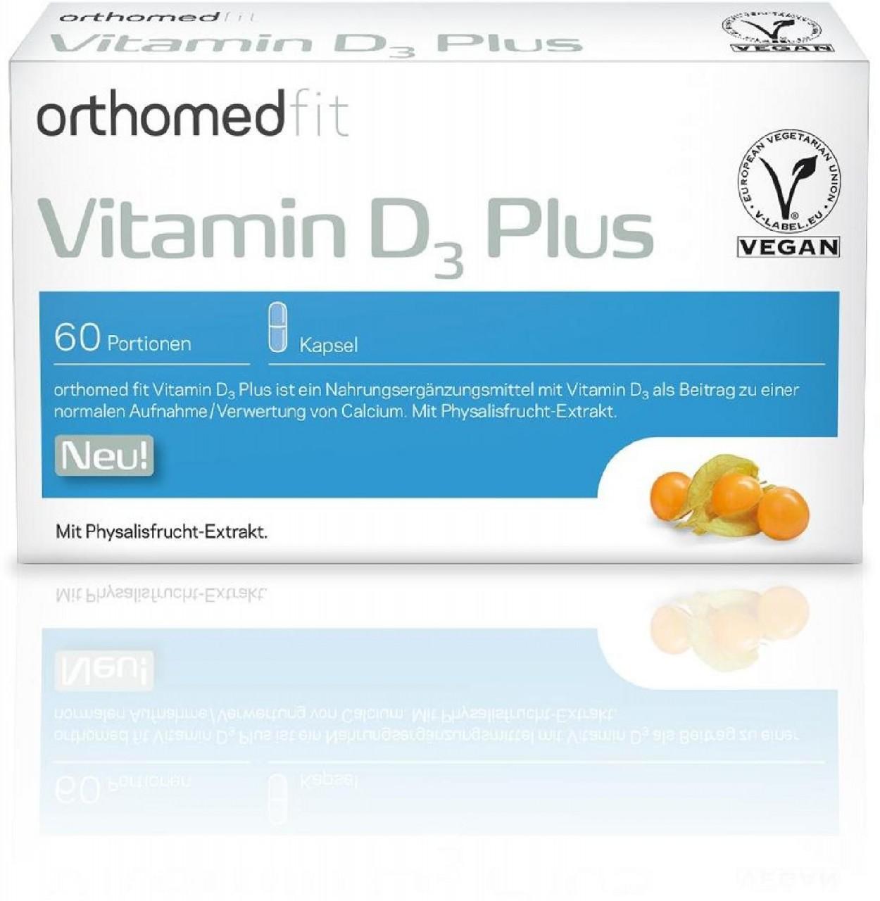 Orthomed fit Vitamin D3 Plus Kapsel, 60 Tagesportionen (V963-30)