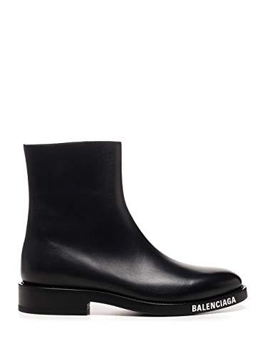 Balenciaga Luxury Fashion Herren 590717WA7201000 Schwarz Leder Stiefeletten   Herbst Winter 20