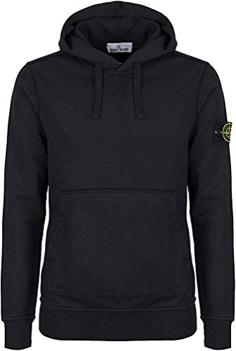 Stone Island Adult Herren Sweatshirt Schwarz Schwarz Gr. Medium, Schwarz (M)