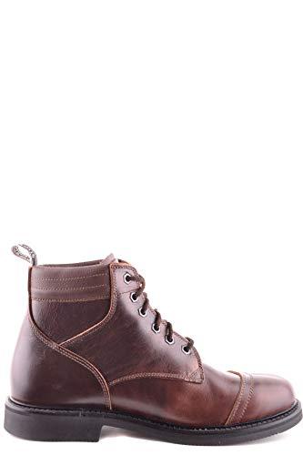 Stone Island Luxury Fashion Herren MCBI30288 Braun Leder Stiefeletten | Jahreszeit Outlet