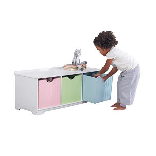 KidKraft Aufbewahrungsbank Nantucket Möbelstück für das Kinderzimmer/Spielzimmer, Holz, Mehrfarbig