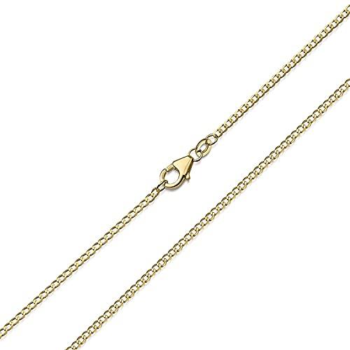 Goldkette Damen 585 Echtgold ohne Anhänger 50cm K119-50