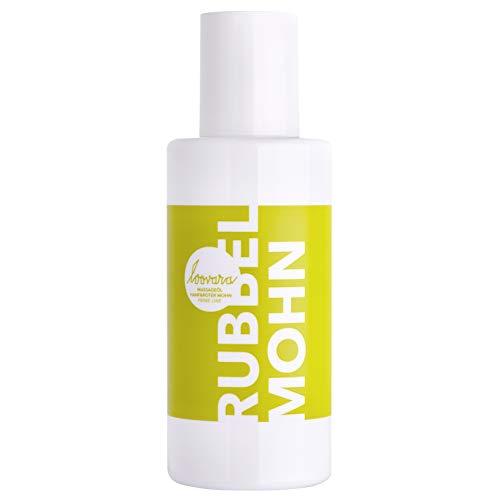 Loovara RUBBEL MOHN – Premium Erotik Massageöl (100 ml)   mit beruhigendem Hanf und rotem Mohn   dezenter Duft   Sex-Spielzeug geeignet   für Vorspiel und Partnermassage