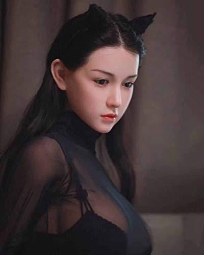 RFVBGT 168cm aufblasbare Sexpuppe hohe Simulation Liebespuppe Silikon Sexpuppe in Allen Posen für Junge Frauen, kann erhitzt Werden, um die Reale Körpertemperatur zu simulieren, und hat eine Stimmfun