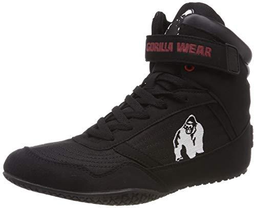 Gorilla Wear High Tops Red rot - schwarzes Logo - Bodybuilding und Fitness Schuhe für Damen und Herren, Schwarz, 41 EU