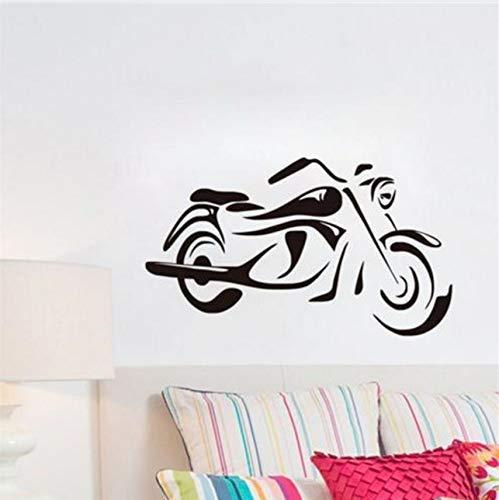 Kindermode Motorrad Wandkunst Aufkleber Schlafzimmer Wohnkultur Vinyl Wandtattoo Abnehmbarer Kleber 59X35Cm