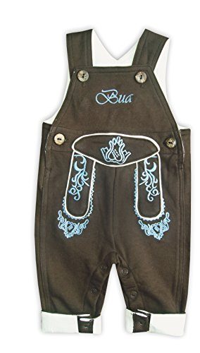 Mogo.cc, BLH Babylederhose Bua, VISO LANG, 50/56, 0-3 Mon. XS, Stick blau