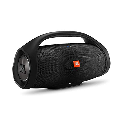 JBL Boombox in Schwarz – Wasserdichter Bluetooth-Lautsprecher mit integrierter Powerbank – Bis zu 24 Stunden Musikgenuss mit nur einer Akku-Ladung – Kabelloses Musikstreaming