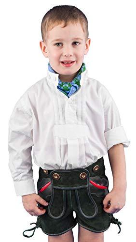 Isar-Trachten Trachtenhemd Kinder Jungen 48400 Trachtenhemd weiß Stehkragen Kinderhemden Jungen Kindertracht - 104