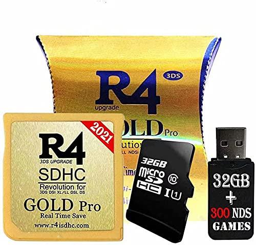 Gold Pro SDHC- Und USB-Adapter Mit 32 GB, Einschließlich DS-Spielen, Bereits Installiertem Kernel, Funktioniert Mit DS DSI 2DS 3DS