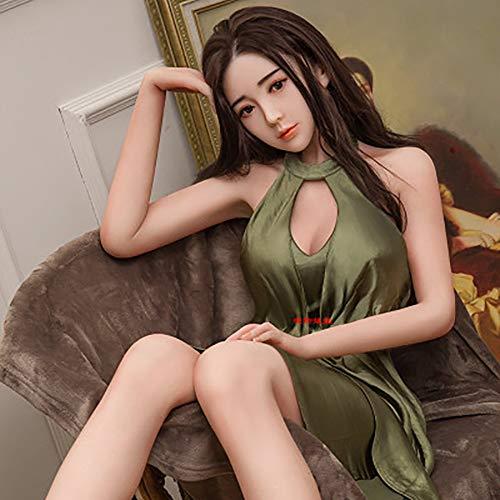 RNGUP Neue Silikon Aufblasbare SexpuppeRealistische Liebespuppe SexspielzeugLebensgröße 165cm / 65 3D Halbsilikon Masturbator Mann Privatlieferung-B