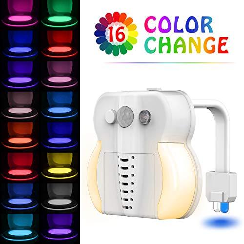 WC-Licht, Sunnest Toilettenschüssel, Nachtlicht, 16 Farben, Bewegungsaktivierung mit Funktion der Aromatherapie und UV-Sterilisator, LED, Badezimmer, Nachtlicht, wasserdicht 16 Farben