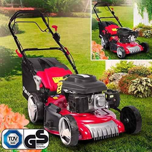 BRAST Benzin Rasenmäher 3,5kW (4,76PS)-5,2kW(7PS) RED LINE Radantrieb 46-51cm Schnittbreite 224ccm Stahlgehäuse 60L Fangkorb TÜV