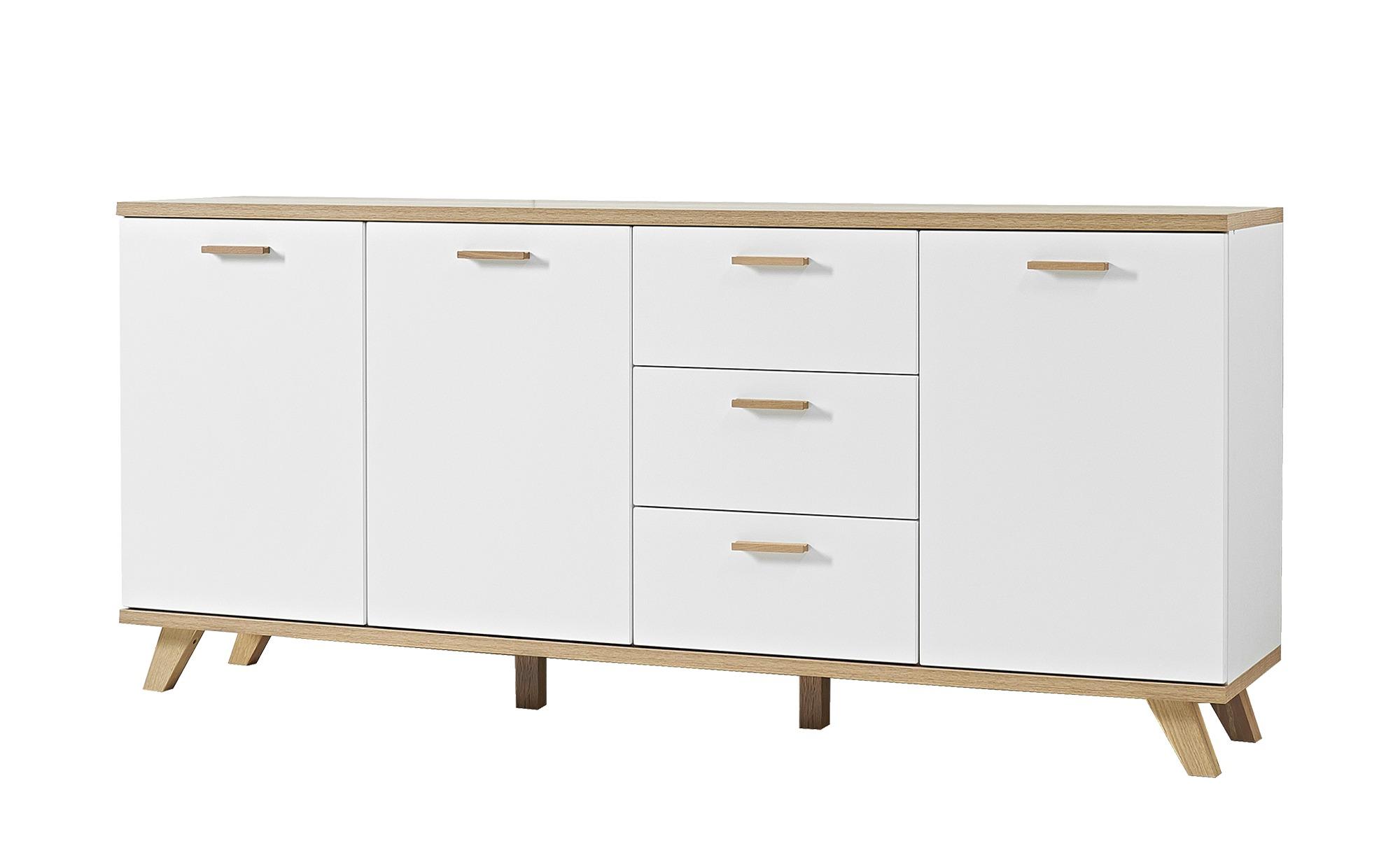 Sideboard - weiß - 196 cm - 87 cm - 40 cm - Schränke > Aktenschränke - Möbel Kraft
