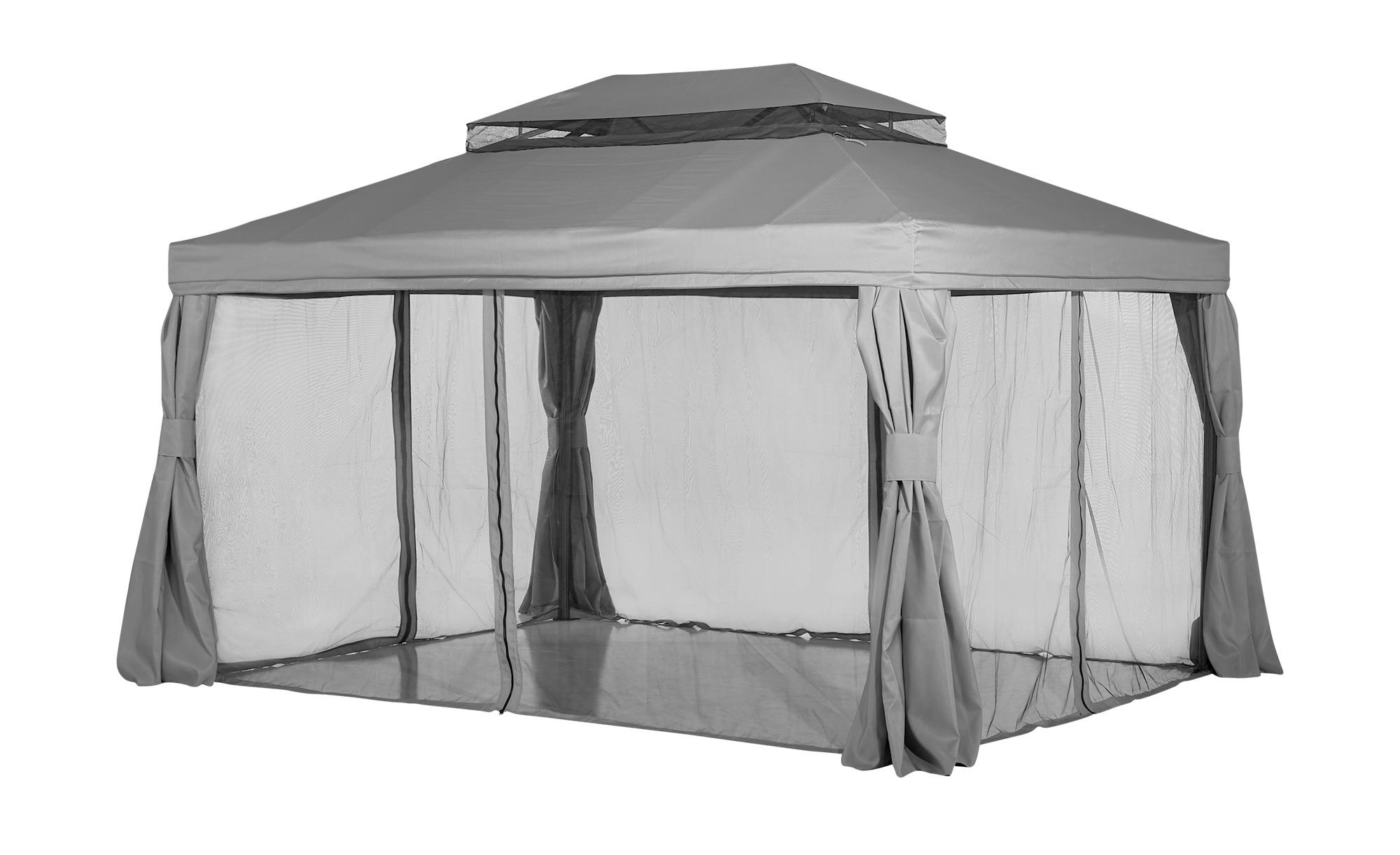 Pavillon - grau - 300 cm - 280 cm - 400 cm - Garten > Gartenmöbel > Pavillons - Möbel Kraft