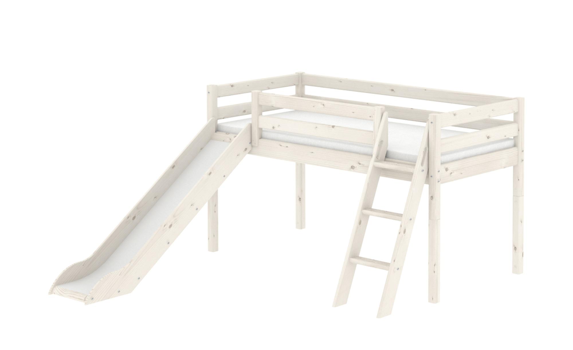 FLEXA Classic-Hochbett, halbhoch  Flexa - weiß - 249 cm - 120 cm - Jugendmöbel > Jugendbetten - Möbel Kraft